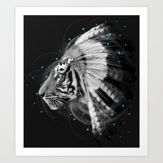 Don't Define the World (Chief of Dreams: Tiger ) Tribe Series Art Print