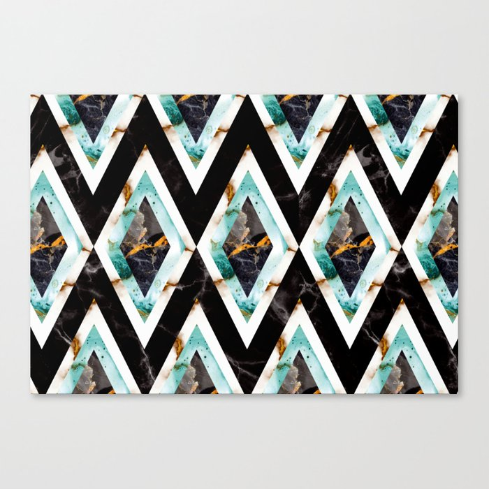 Art Deco Marble Pattern 20s Homedecor Canvas Print By Susycosta Society6