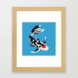 Geo Koi Black & White Framed Art Print