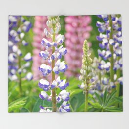 Lovely Lupines Throw Blanket