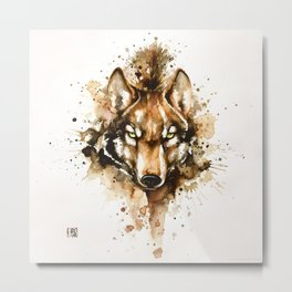 """Into the mirror"" n°1 The wolf Metal Print"
