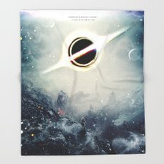 Interstellar Inspired Fictional Sci-Fi Teaser Movie Poster Throw Blanket