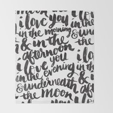 I love you in the morning Throw Blanket