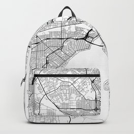 Jacksonville Map White Backpack