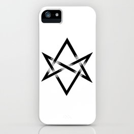 Unicursal Hexagram iPhone Case