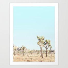 Pastel Desert - Joshua Tree Cactus, Boho Landscape Photography Art Print