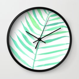 Tropical frond - watercolorart, homedecor, artprint Wall Clock