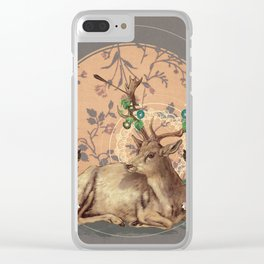 Deer Dandy Clear iPhone Case
