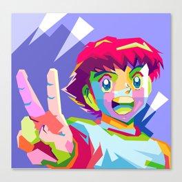Captain Tsubasa in pop art wpap Canvas Print