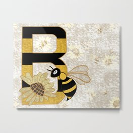 B for bee Metal Print