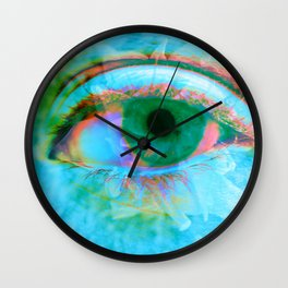 Eye in Bloom [Blue] Wall Clock