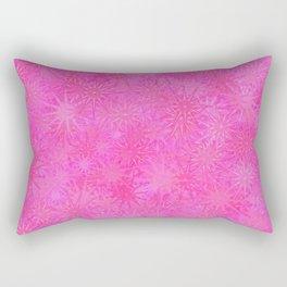 Cotton Candy Winter Festive Abstract Rectangular Pillow