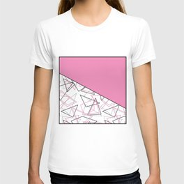 Abstract pink combo pattern . T-shirt