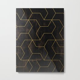 Golden Mosaic  Metal Print