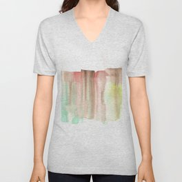 [161228] 24. Abstract Watercolour Color Study|Watercolor Brush Stroke Unisex V-Neck