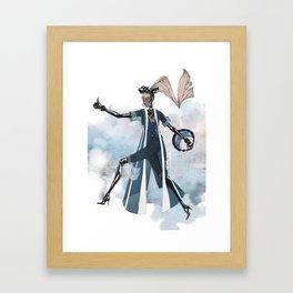 Blue New York City Framed Art Print