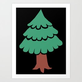 evergreen tree art prints society6