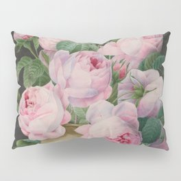 Pierre Joseph Redouté - Pink Roses in a Vase Pillow Sham
