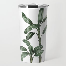 Banana Leaf Trees - Tropical Watercolour Trees illustration Travel Mug