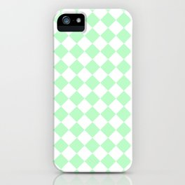 Diamonds - White and Mint Green iPhone Case