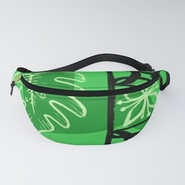 Hawaiian Pattern #1 - green! Fanny Pack