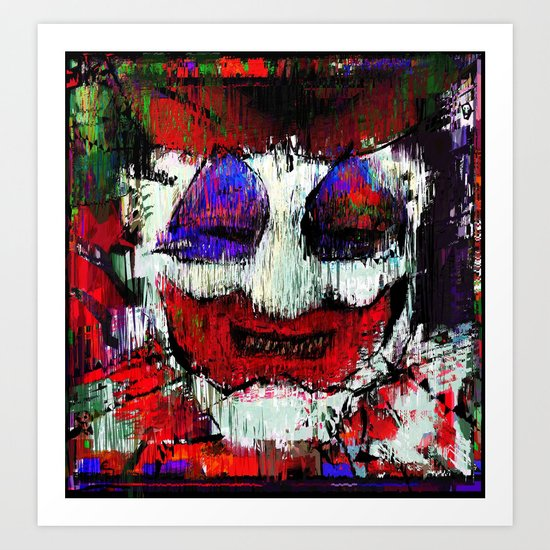 All the world loves a clown Art Print