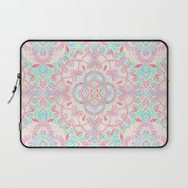 Mint and Blush Pink Painted Mandala Laptop Sleeve