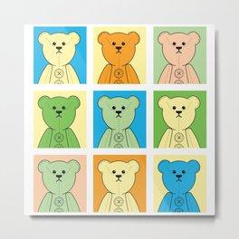 Grumpy Teds Pastel Block Metal Print