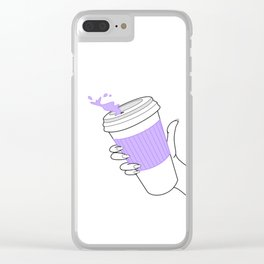 don't spill ! Clear iPhone Case