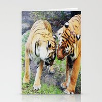 tigers Stationery Cards featuring Tigers by Irene Jaramillo