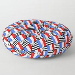 Mix of flag: france and brittany Floor Pillow