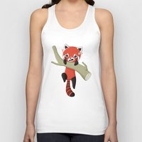 red panda Tank Tops featuring Red Panda by Freeminds