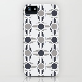 Geometric Pattern. Circles and Rhombuses iPhone Case