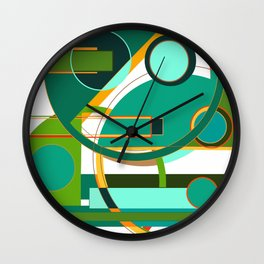 D is for Deco: Abstract Art Deco Font Typography Wall Clock