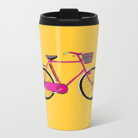 Bicycle  Metal Travel Mug