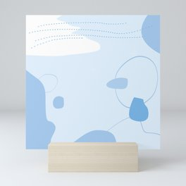 Organic natural seamless pattern #4 Mini Art Print