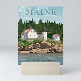 Bass Harbor Lighthouse Maine Mini Art Print