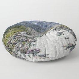 Mountain Scenery 2 painted Floor Pillow