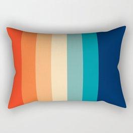 7 Colorful Retro Summer Stripes Bamola Rectangular Pillow