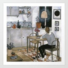 """""""Kitchen"""" by Yelena Bryksenkova Art Print"""