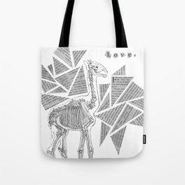 Skeletal Giraffe Tote Bag