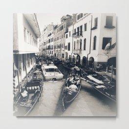 Canal Traffic Metal Print