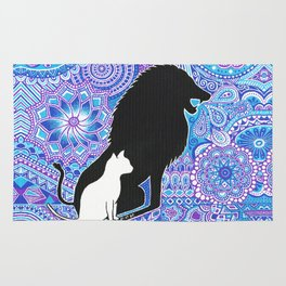 The lion's strength ! Rug