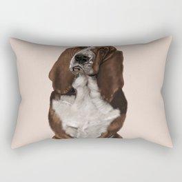 Bassett Hound Rectangular Pillow