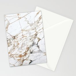 Marble White & Gold Stationery Cards