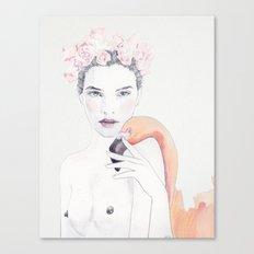 Molly & Flamingo Canvas Print