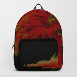 Infrared Gerbera Daisies with Blur Backpack