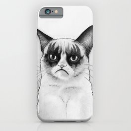 Grumpy Simmons Cat Whimsical Funny Animal Music iPhone Case