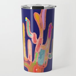 cactus colorful 9 Travel Mug