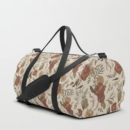 Antique Floral Pattern Duffle Bag